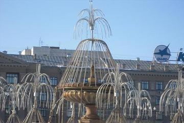 Хаб. Фонтан на центральной площади.