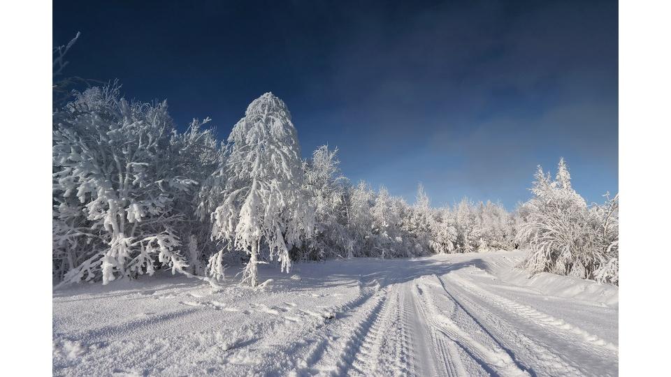 Зима в Белоруссии.